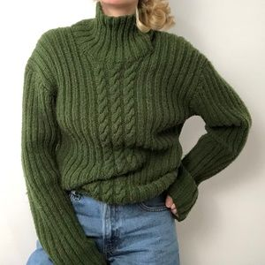 VINTAGE/ chunky ribbed knit pullover